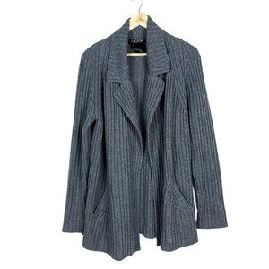 Escada Margaretha Ley Gray Ribbed Cardigan Sweater